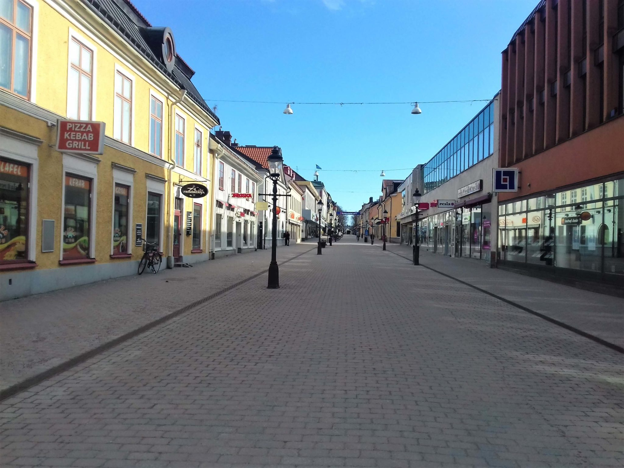 Street in Nykoping, Sweden