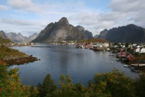 View of the Lofoten Islands, one of the most beautiful places in Norway