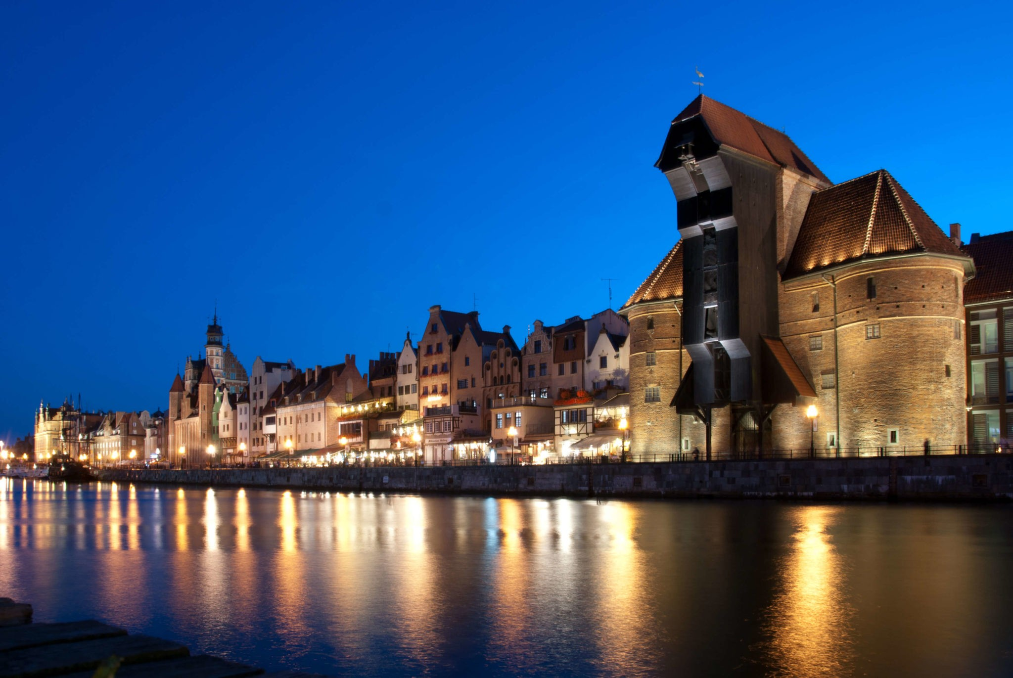 Night in the city, 1 day in Gdansk