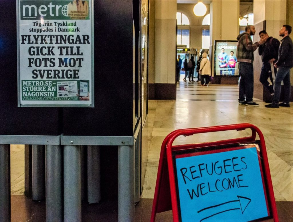 Refugees problem in Sweden