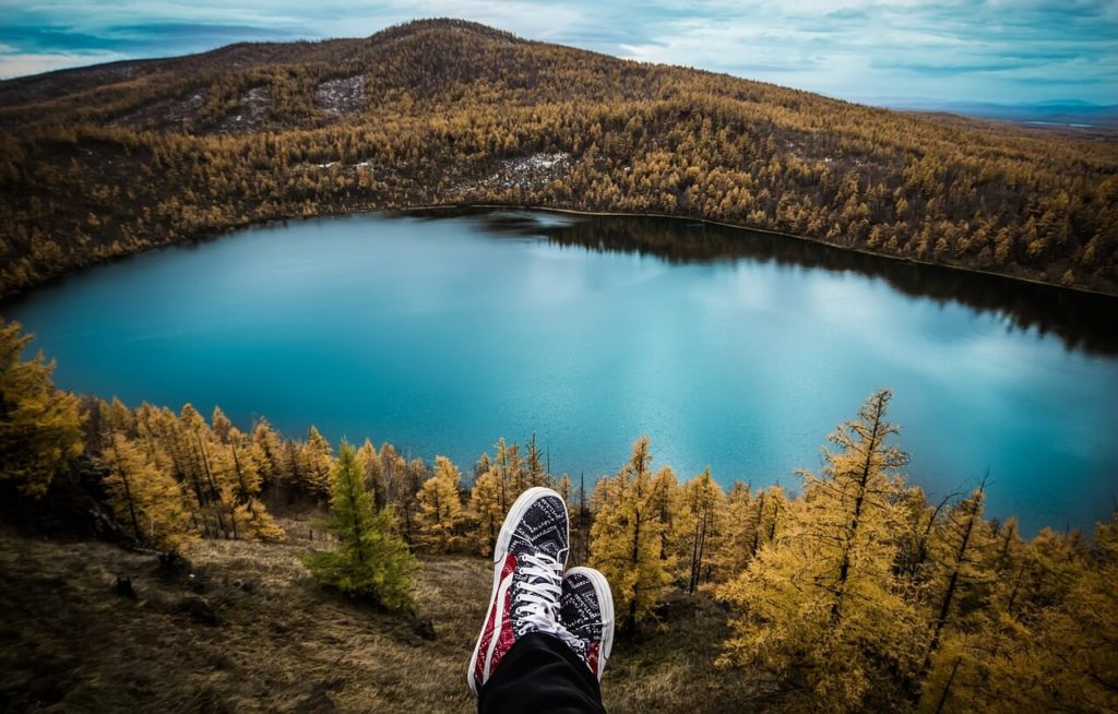 Lake and shoes. Why you should travel