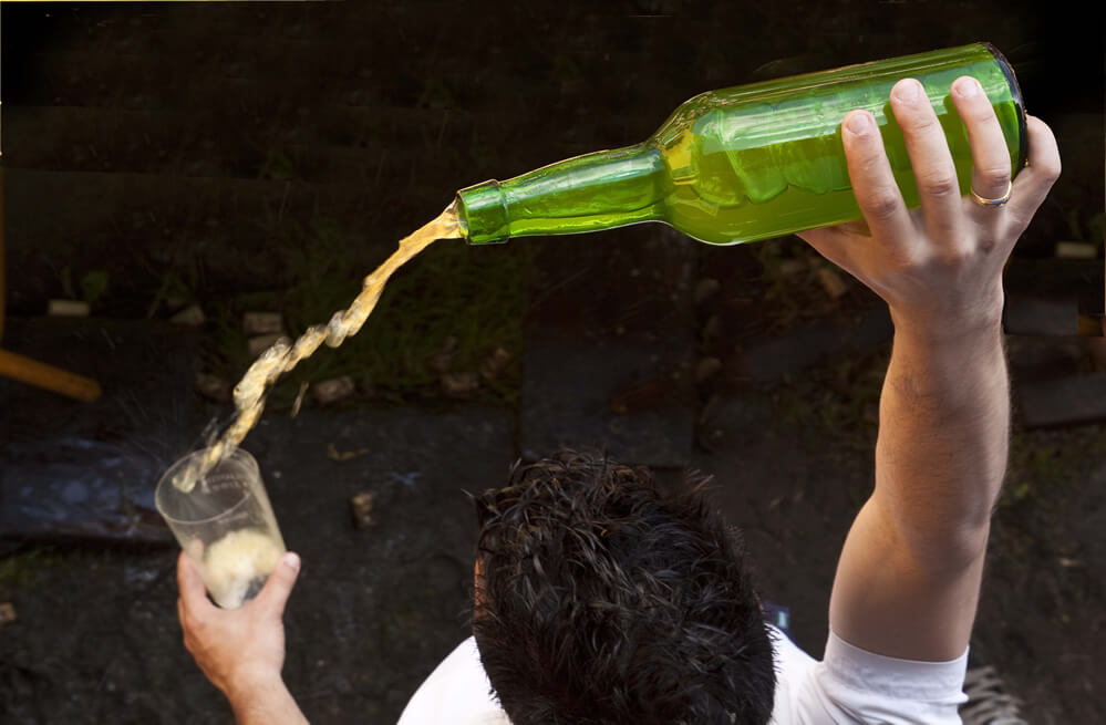 Sidra, traditional drink in the region