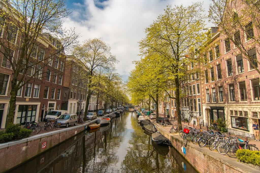 One of the canals in Amsterdam, Netherlands travel guide