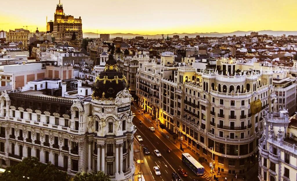sunset in Madrid, prices and 3-day itinerary, Spain travel guide