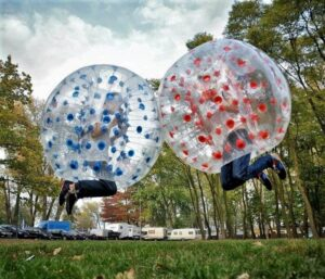Bubble football in Warsaw, activities