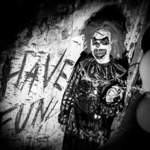 Clown from Horror House entertainment center in Warsaw, activity