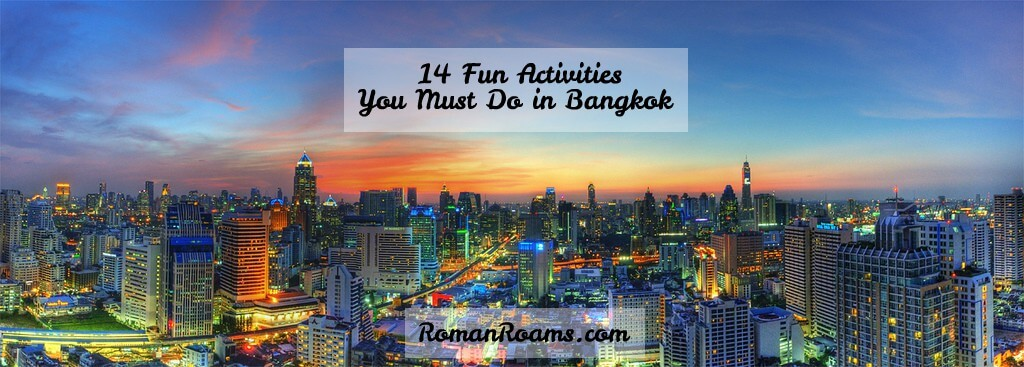 fun activities in Bangkok, night panorama