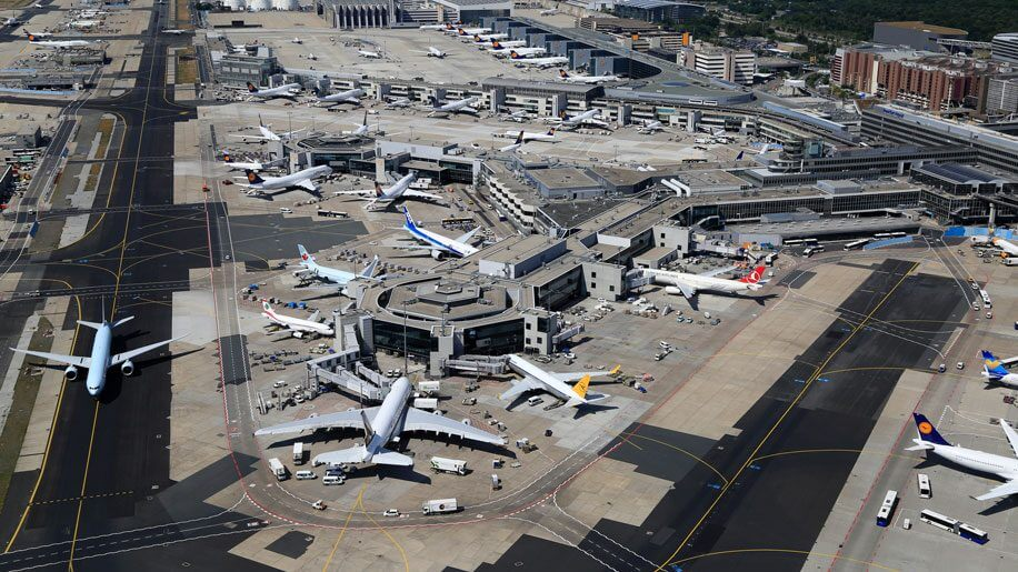Frankfurt airport from the bird eye view