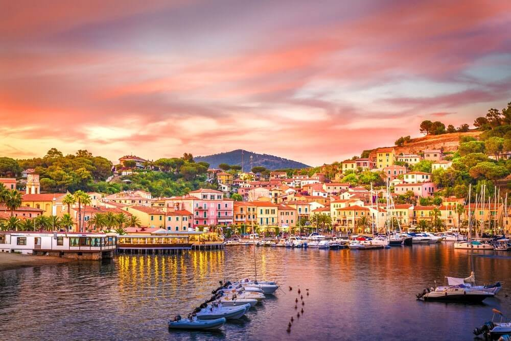 Sunset on the beautiful European island
