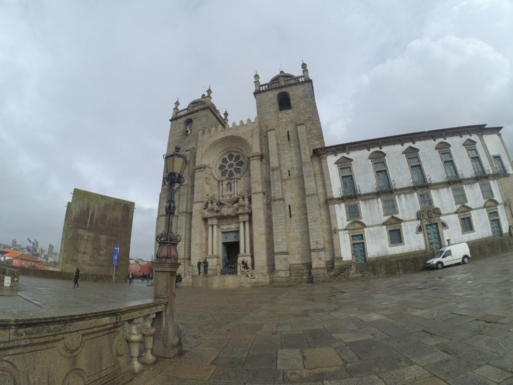 Porto Cathedral under clowds