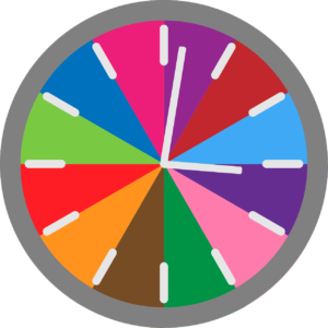 Colorful clock, planning your activities
