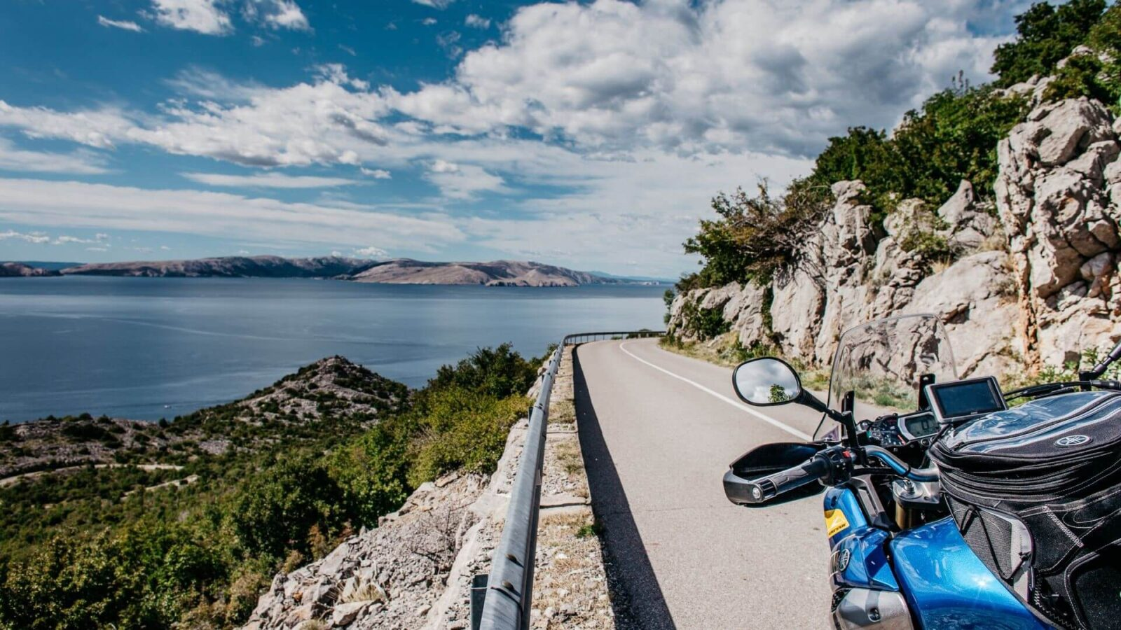 Motorcycle road in Croatia
