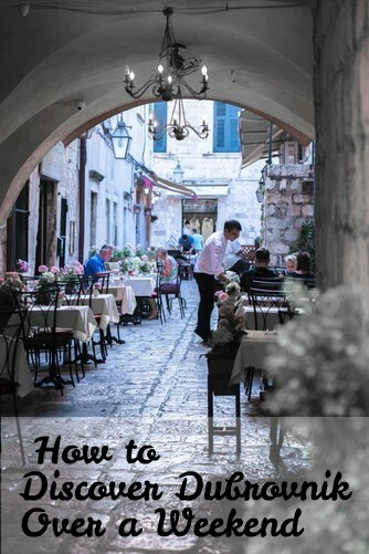 Street cafe in Dubrovnik, best things to do over a weekend