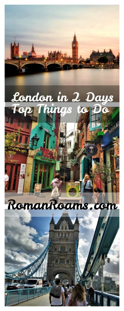 Best things to do in London in 2 days, local guide, collage