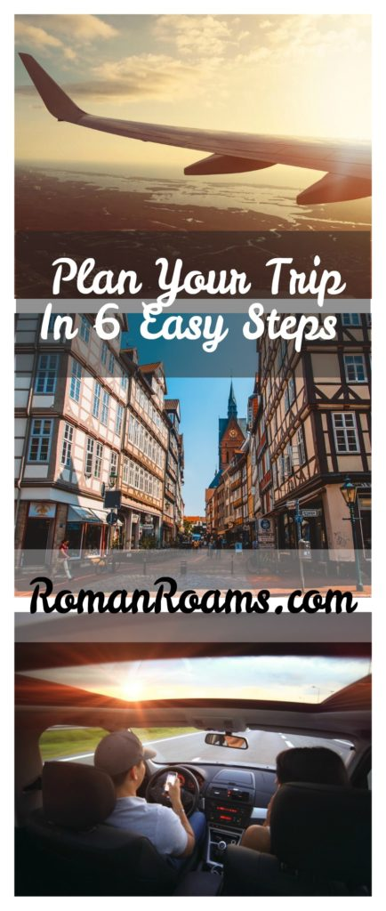 Collage with tips how to plan a perfect trip to Europe