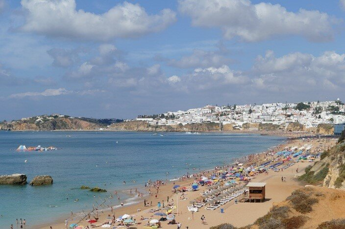 Beach in Albufeira, Portugal