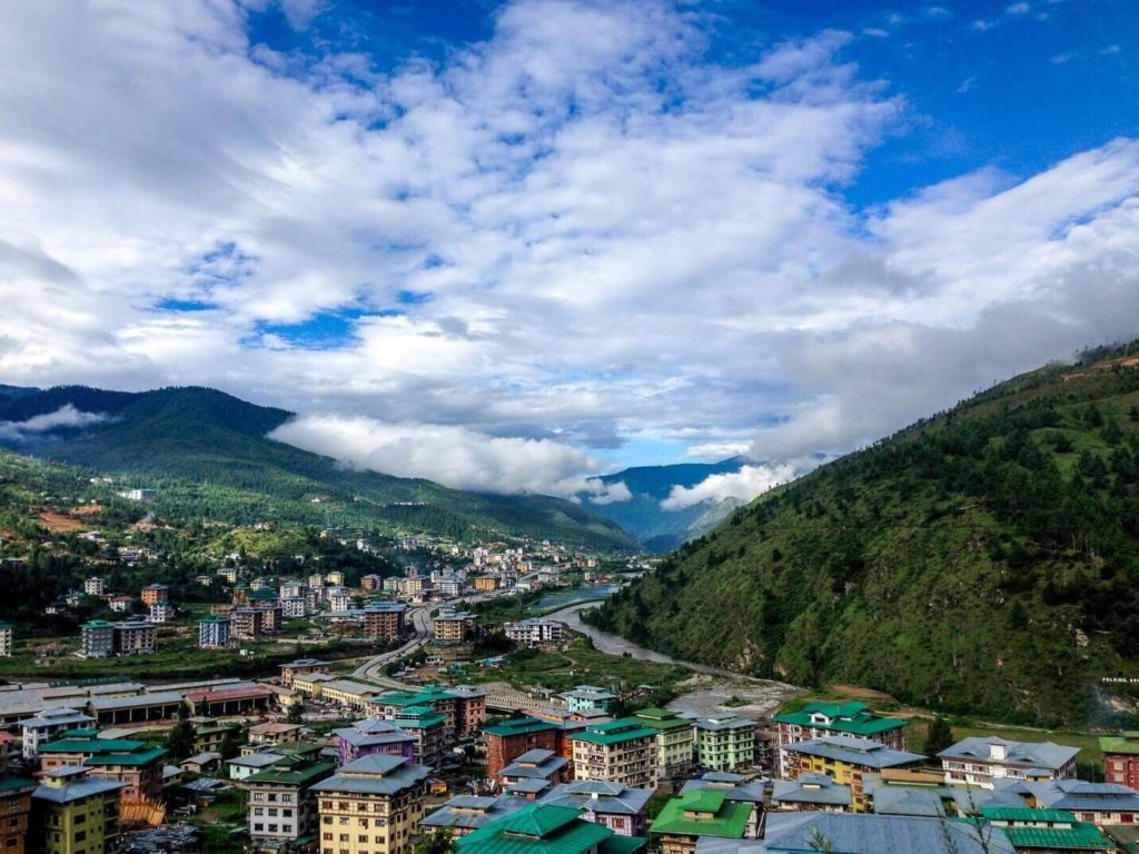 Bhutan city on a low cost