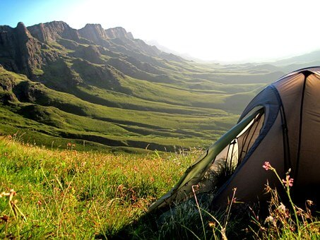 Great views when camping in Africa