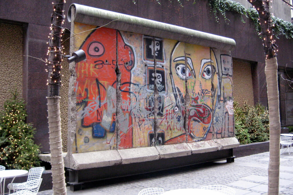 Berlin wall segment in NYC, unusual places to visit