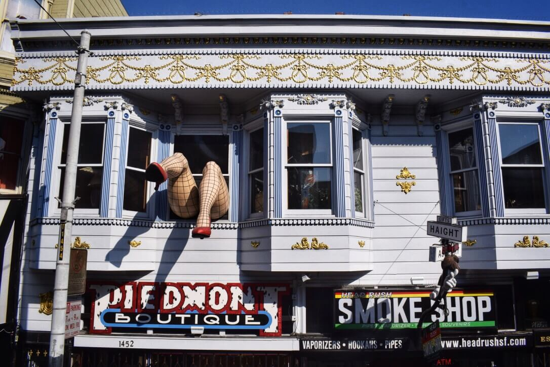 Quirky shops in Haight Ashbury, San Francisco itinerary for 3 days