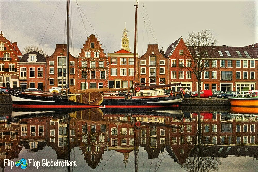 Haarlem canal in Holland, discover real Europe