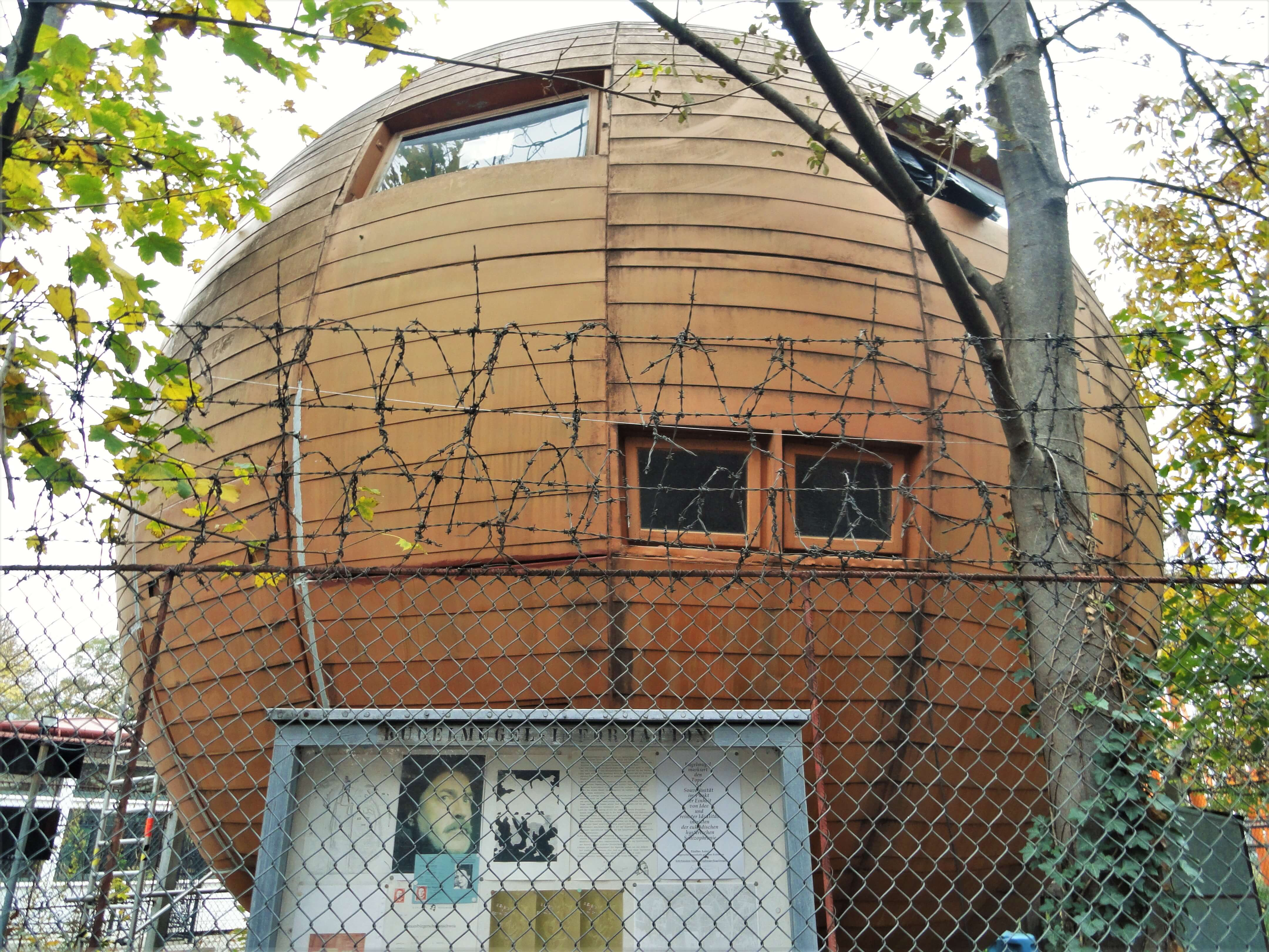 Kugelmugel round house in Vienna Prater Entertainment Park