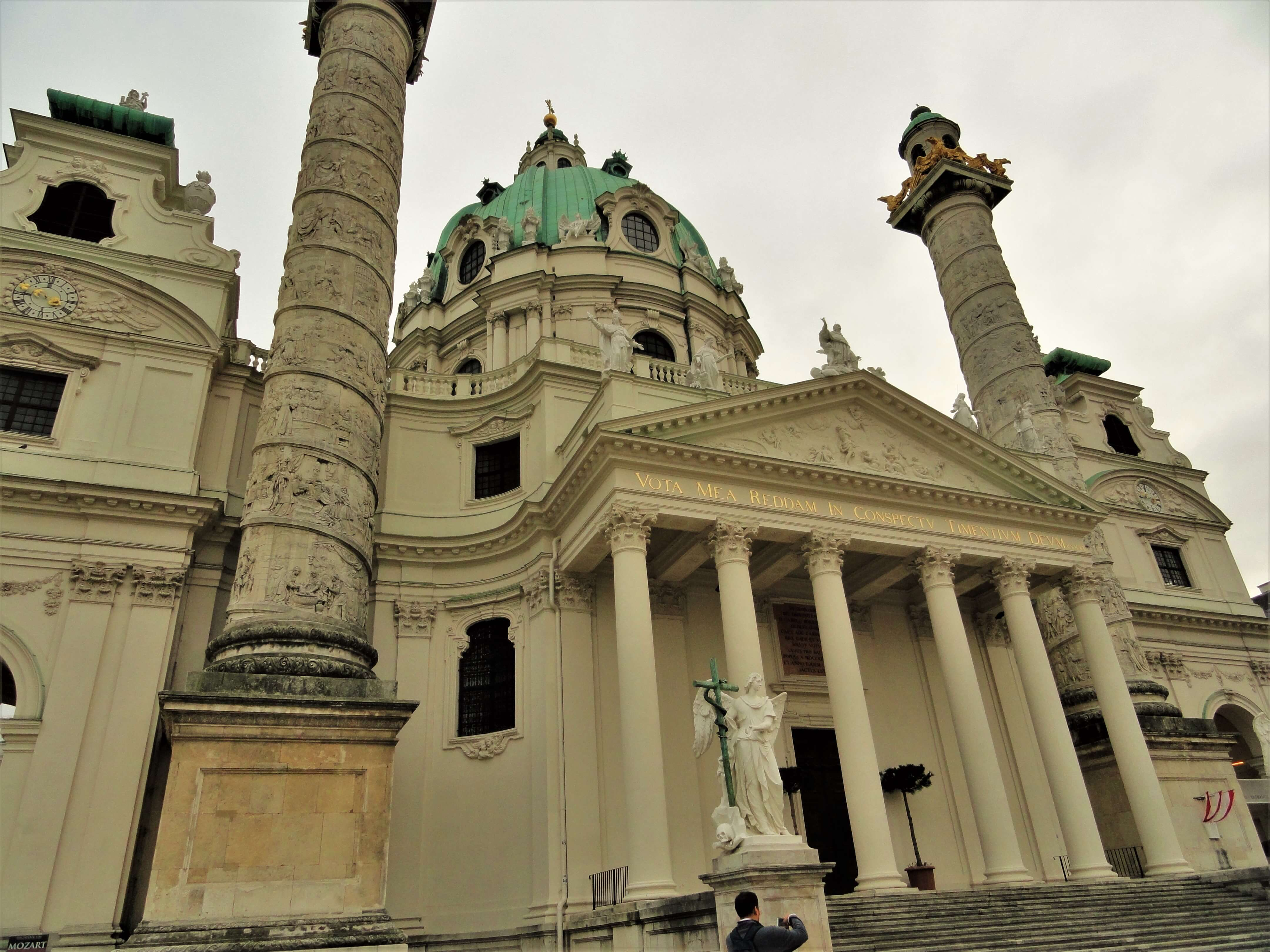 Karlskirche, one of the best places to visit in Vienna over a weekend