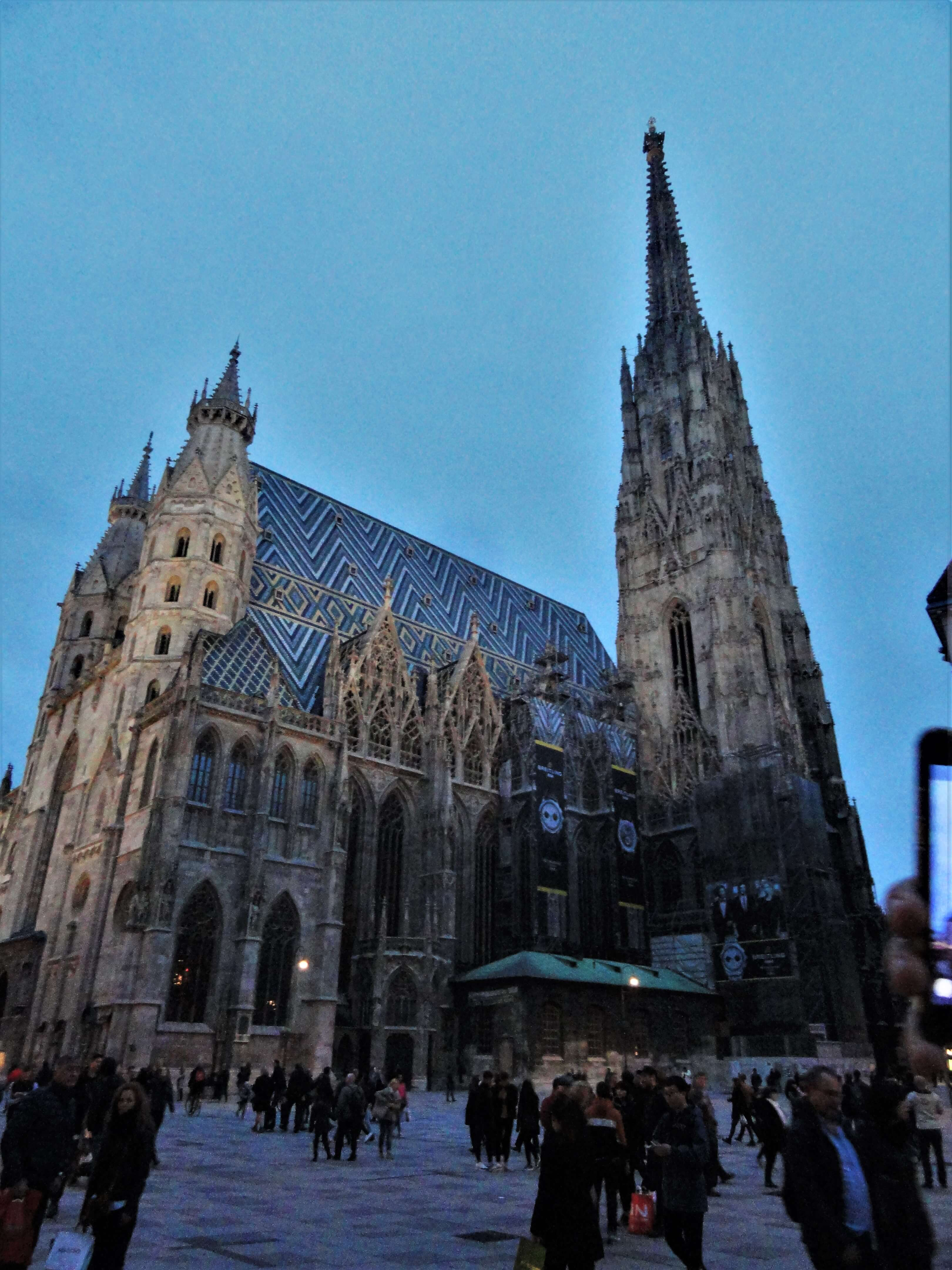 St. Stephans Cathedral in Vienna at night