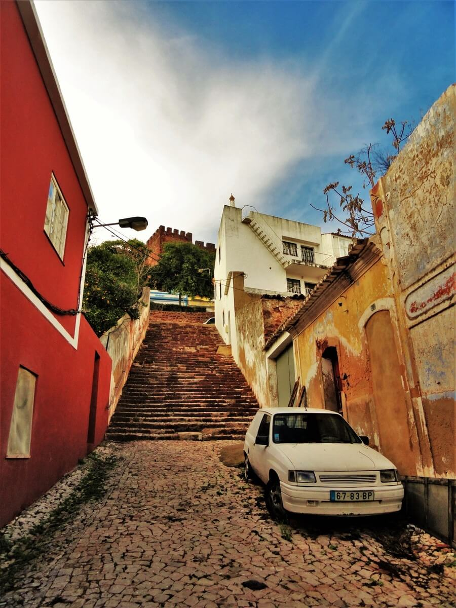 Stairs in Silves, Lagos one day trips