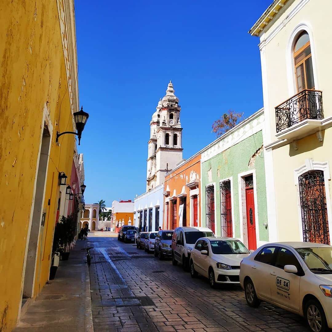 Colorful houses in Campeche
