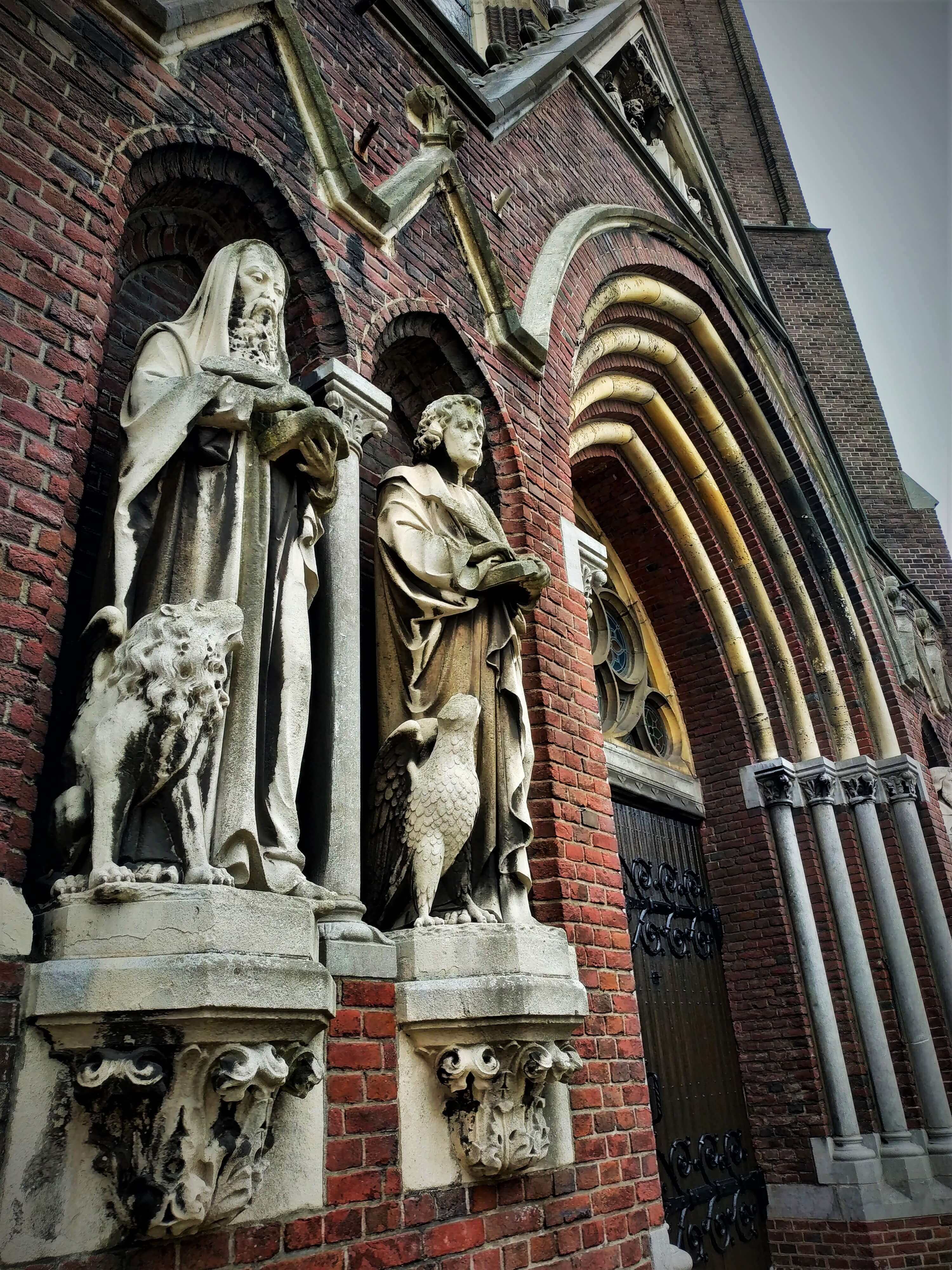 St Catherine church entrance in Eindhoven, holland