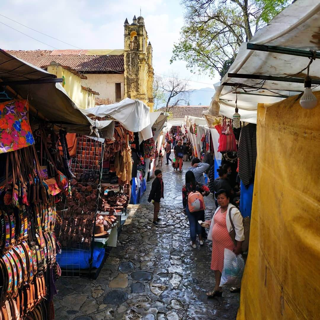 Market in San cristobal de las casas, Mexico adventures