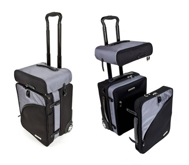 Modular cube luggage for a flight packing