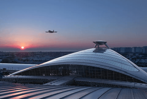 Airport during sunset, how to find cheap flights to Europe