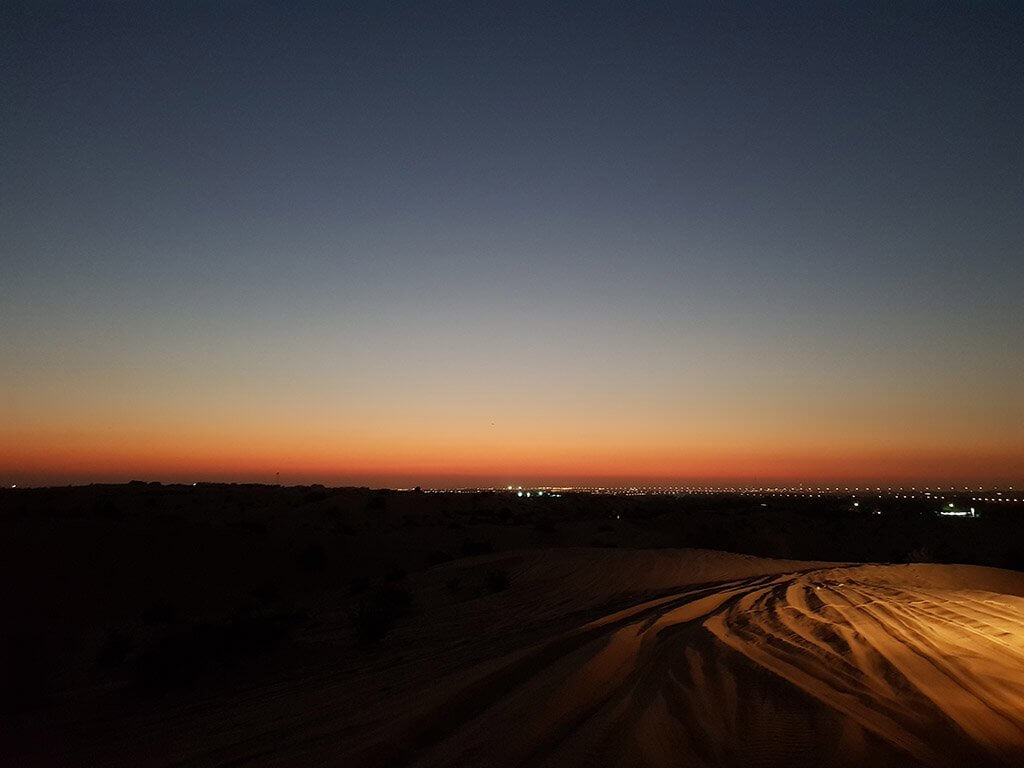 Desert Safari Sunset in Dubai