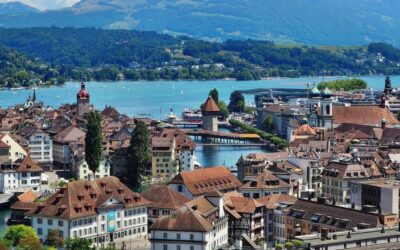panorama of Lucerne old town, switzerldand attractions in 7 days itinerary