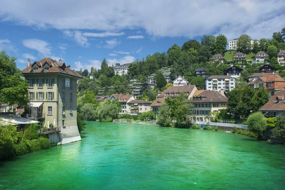 Green river and old houses in Bern, Switzerland 7 day itinerary