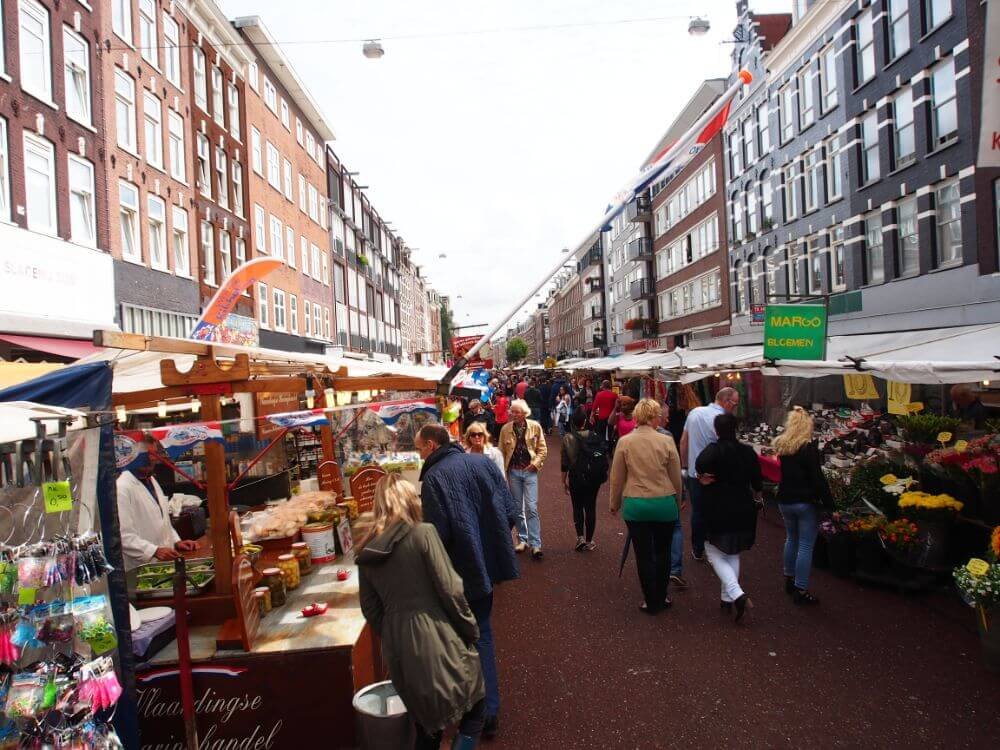 Albert Cuyp markt in Amsterdam, things to do in a weekend