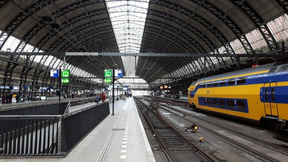 Amsterdam train station, Holland