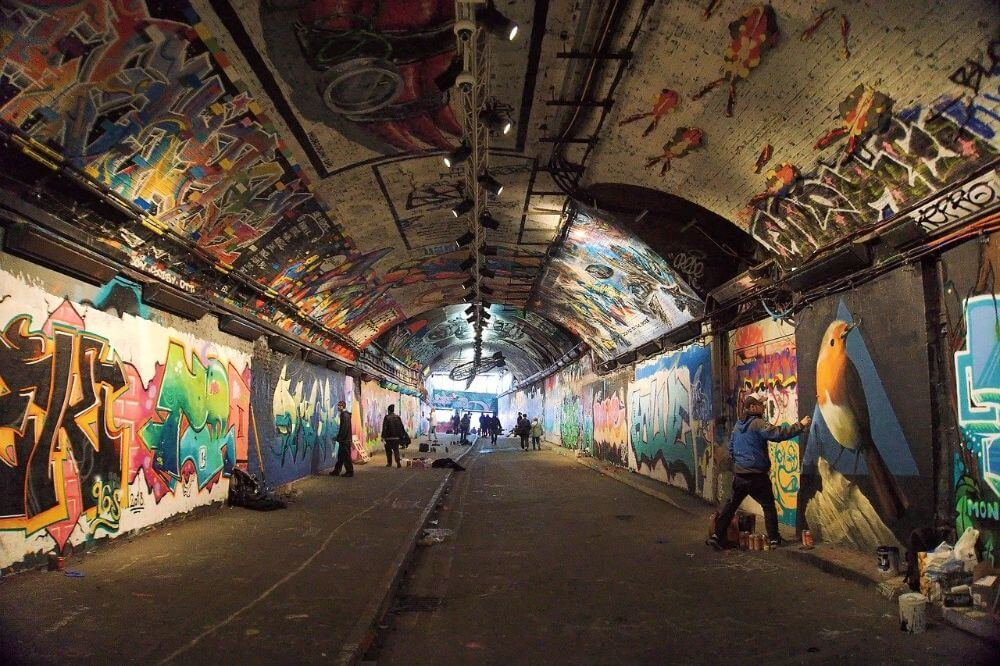 Leake street arch graffiti, things to do near Waterloo station