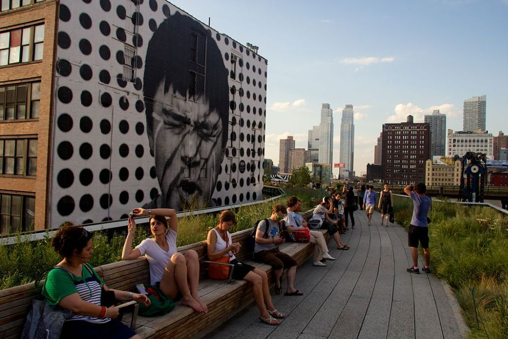 High Line park in New York city, itinerary for students