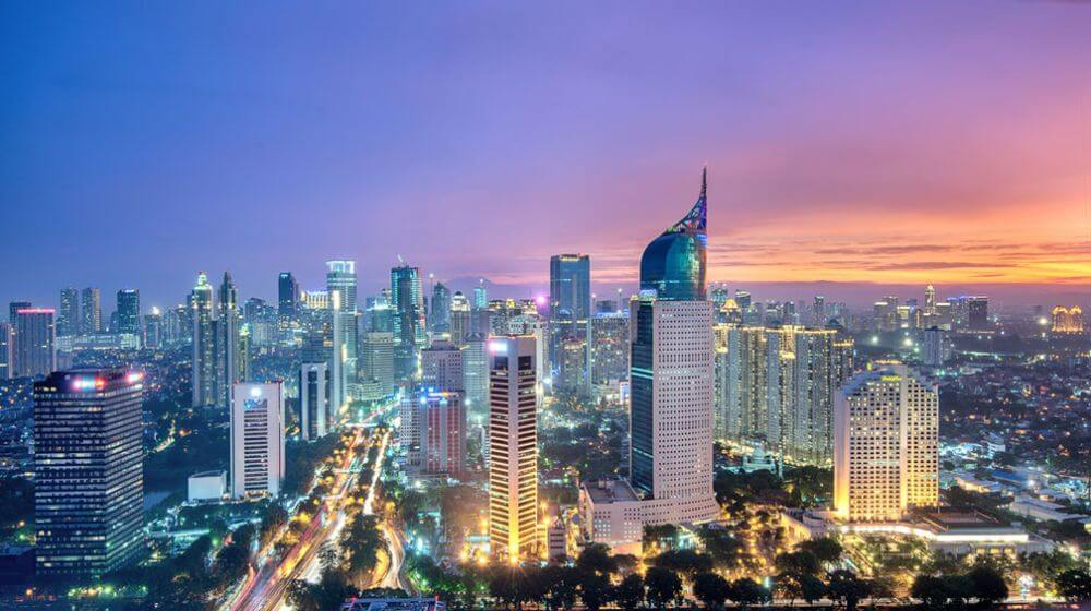 Jakarta skyline at night Indonesia attractions