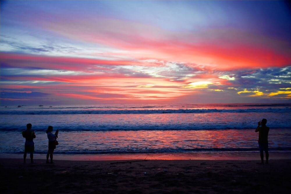 Sunset in Bali, indonesia week itinerary