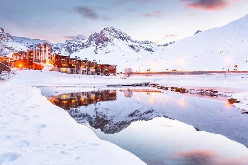 Tignes ski resort mountain city in France, perfect for snowboarding trips