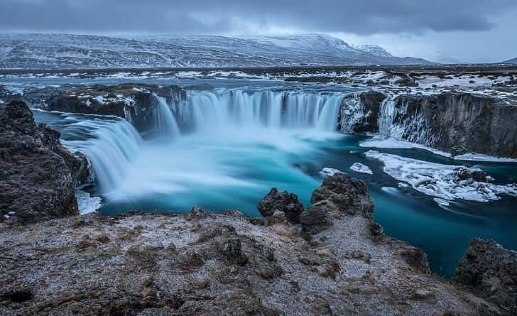 Iceland Godafoss waterfall natural beauty
