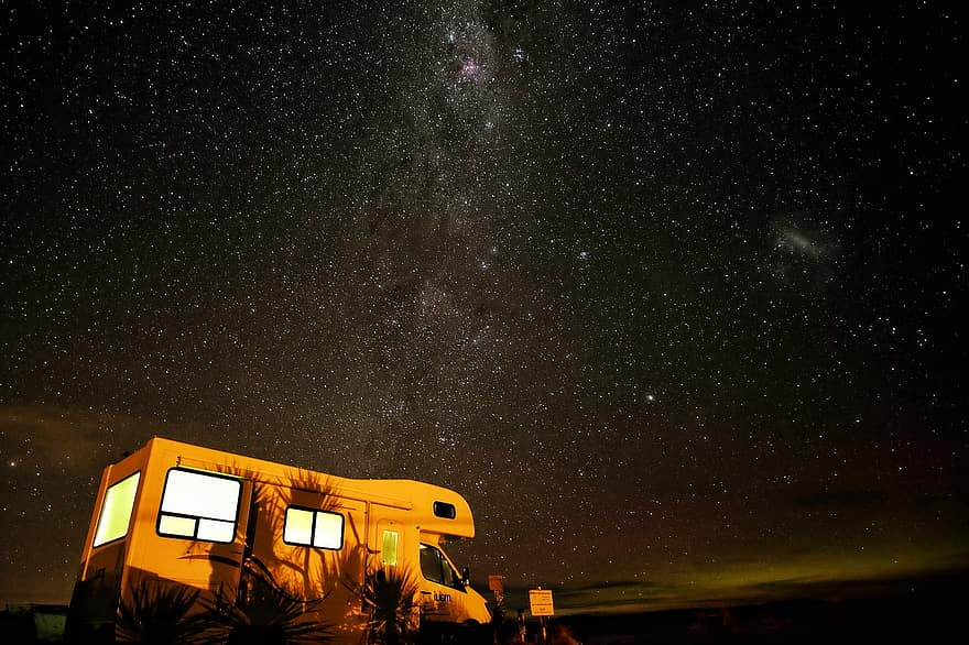 Camping trip stargazing with your couple