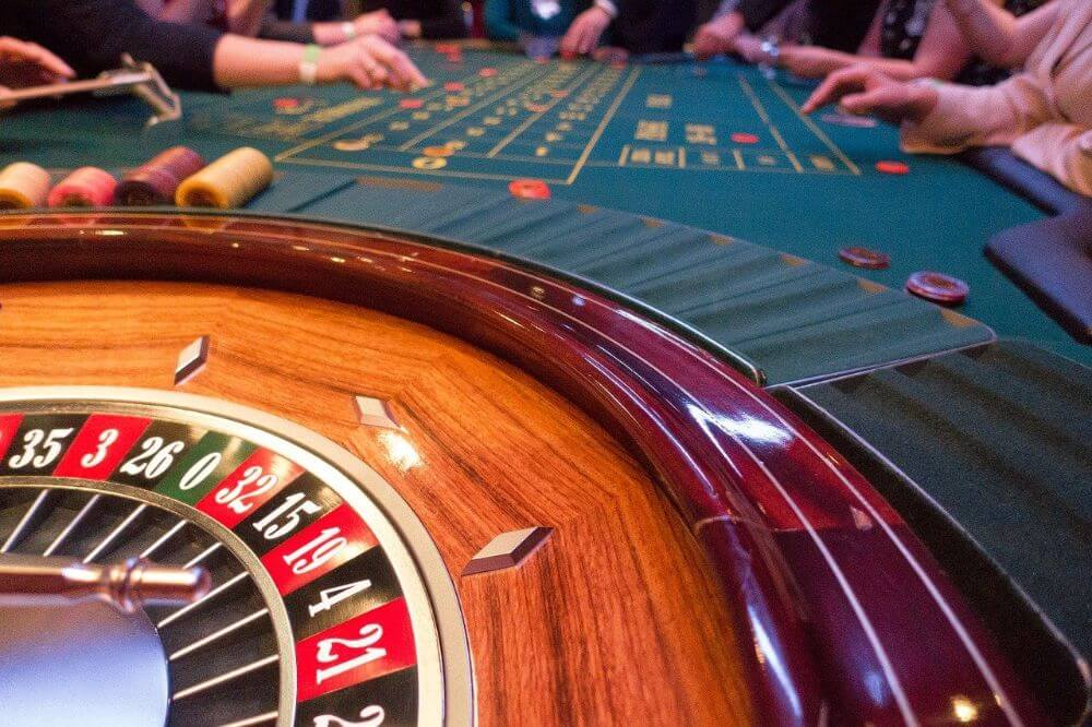 Roulette in casino, gambling during coronavirus