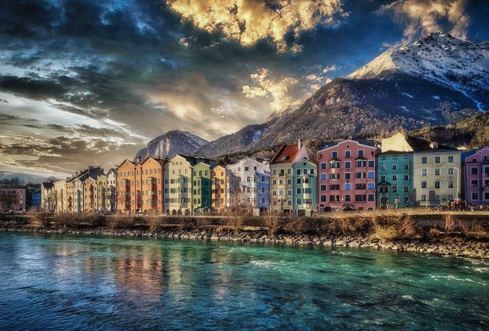 Innsbruck mountains view, places to go in winter