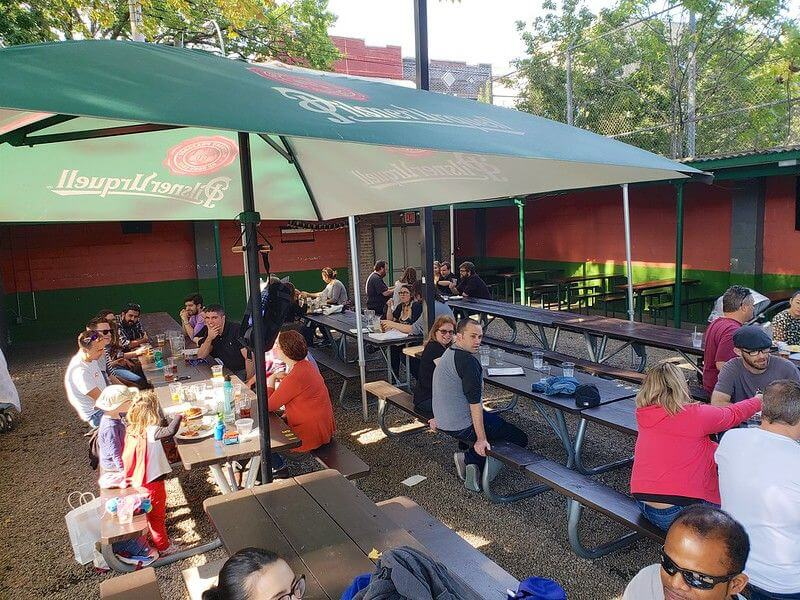 Bohemian Hall Beer Garden New York City outdoor eating