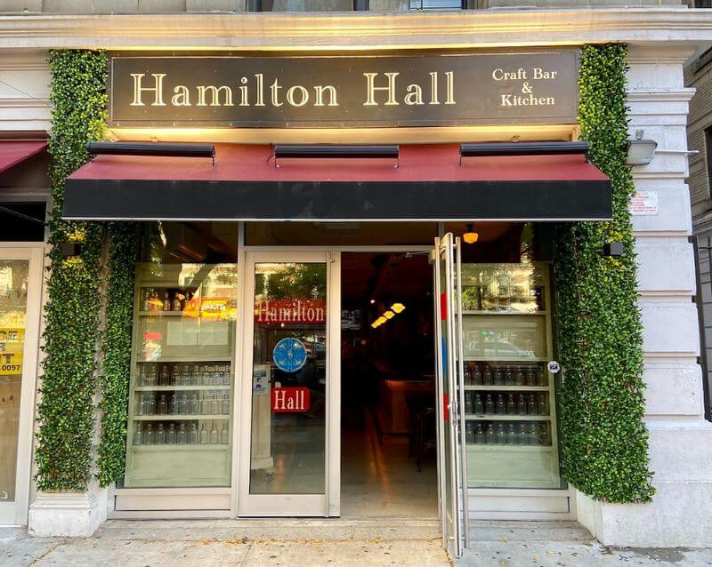 Hamilton Hall outdoor bar and restaurant New York